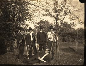 Primary view of object titled 'Railroad Survey Crew Poses for a Photograph, c. 1902'.