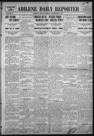Primary view of object titled 'Abilene Daily Reporter (Abilene, Tex.), Vol. 15, No. 12, Ed. 1 Saturday, September 24, 1910'.