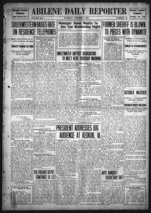 Primary view of object titled 'Abilene Daily Reporter (Abilene, Tex.), Vol. 12, No. 60, Ed. 1 Tuesday, October 1, 1907'.