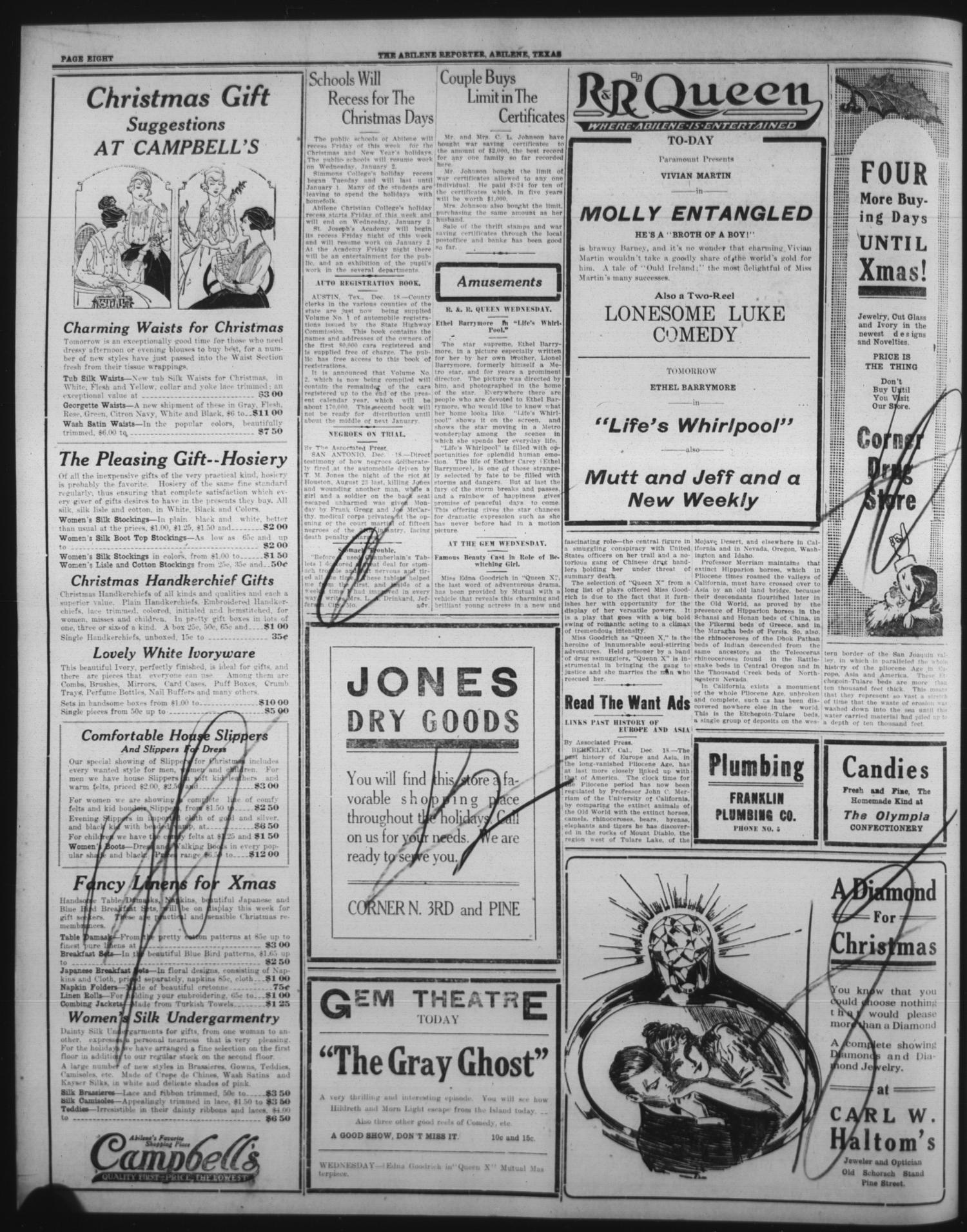 The Abilene Daily Reporter (Abilene, Tex.), Vol. 21, No. 236, Ed. 1 ...