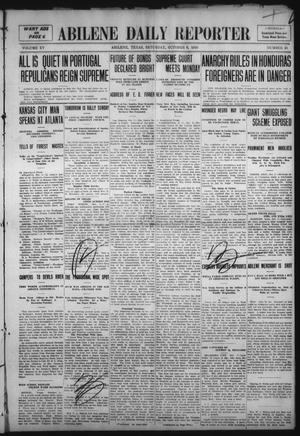 Primary view of object titled 'Abilene Daily Reporter (Abilene, Tex.), Vol. 15, No. 25, Ed. 1 Saturday, October 8, 1910'.