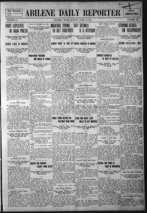 Primary view of object titled 'Abilene Daily Reporter (Abilene, Tex.), Vol. 15, No. 190, Ed. 1 Sunday, April 16, 1911'.
