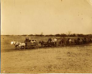 Railroad Survey Crew's Wagon Train, c. 1902