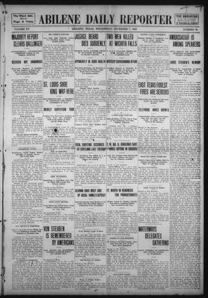 Primary view of object titled 'Abilene Daily Reporter (Abilene, Tex.), Vol. 15, No. 78, Ed. 1 Wednesday, December 7, 1910'.
