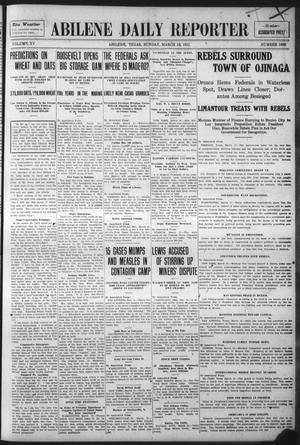 Primary view of object titled 'Abilene Daily Reporter (Abilene, Tex.), Vol. 15, No. 166, Ed. 1 Sunday, March 19, 1911'.