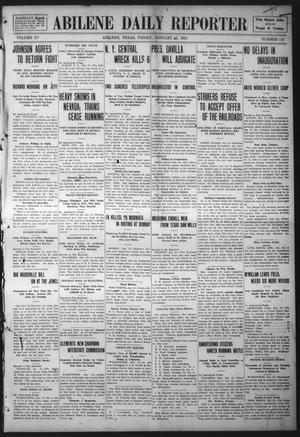Primary view of object titled 'Abilene Daily Reporter (Abilene, Tex.), Vol. 15, No. 110, Ed. 1 Friday, January 13, 1911'.