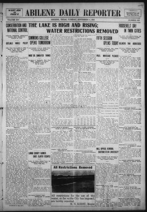 Primary view of object titled 'Abilene Daily Reporter (Abilene, Tex.), Vol. 14, No. 359, Ed. 1 Tuesday, September 6, 1910'.
