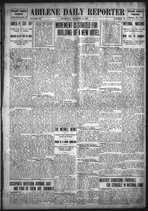 Primary view of object titled 'Abilene Daily Reporter (Abilene, Tex.), Vol. 12, No. 68, Ed. 1 Thursday, October 10, 1907'.