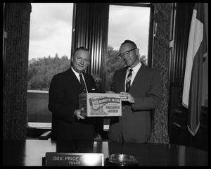Primary view of object titled 'Presentation to Gov. Price Daniel'.