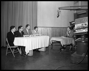 Primary view of object titled 'Obie Jones, Travis Co. delegation at KTBC'.