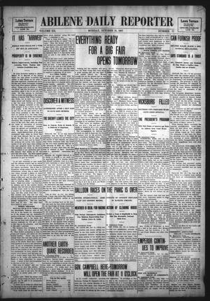 Primary view of object titled 'Abilene Daily Reporter (Abilene, Tex.), Vol. 12, No. 77, Ed. 1 Monday, October 21, 1907'.
