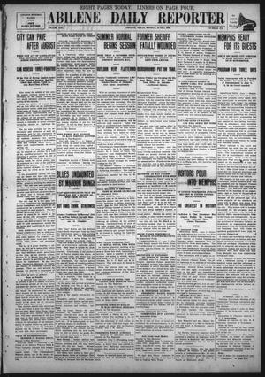 Primary view of object titled 'Abilene Daily Reporter (Abilene, Tex.), Vol. 13, No. 274, Ed. 1 Monday, June 7, 1909'.