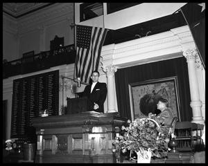 Primary view of object titled 'Tom Reavley, Sec. State - Opening address at Legislature'.