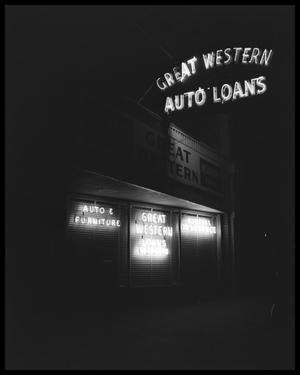 Primary view of object titled 'Great Western Auto Loans'.