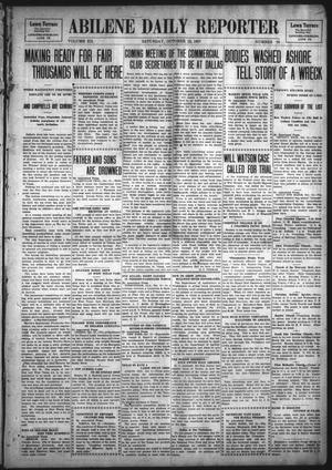Primary view of object titled 'Abilene Daily Reporter (Abilene, Tex.), Vol. 12, No. 70, Ed. 1 Saturday, October 12, 1907'.
