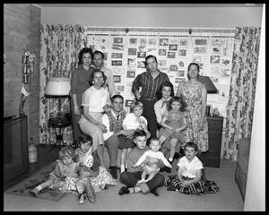 Primary view of object titled 'Mrs. Irene Pearce & Family'.