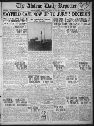 Primary view of object titled 'The Abilene Daily Reporter (Abilene, Tex.), Vol. 24, No. 142, Ed. 1 Tuesday, October 24, 1922'.