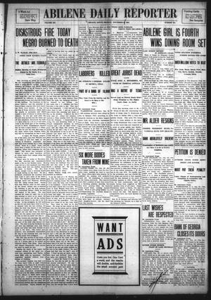 Primary view of object titled 'Abilene Daily Reporter (Abilene, Tex.), Vol. 12, No. 131, Ed. 1 Sunday, December 22, 1907'.