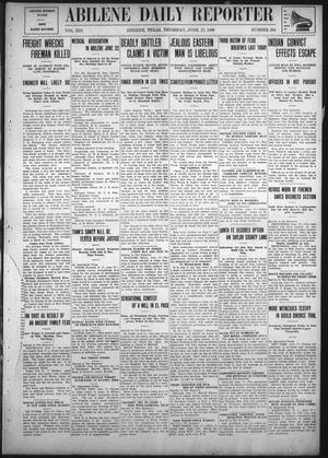 Primary view of object titled 'Abilene Daily Reporter (Abilene, Tex.), Vol. 13, No. 284, Ed. 1 Thursday, June 17, 1909'.