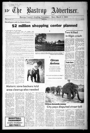 Primary view of object titled 'The Bastrop Advertiser (Bastrop, Tex.), Vol. [125], No. 79, Ed. 1 Friday, December 1, 1978'.