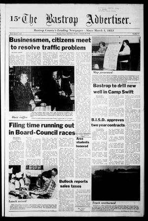 Primary view of object titled 'The Bastrop Advertiser (Bastrop, Tex.), Vol. [124], No. 75, Ed. 1 Monday, February 20, 1978'.