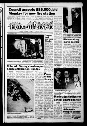 Primary view of object titled 'Bastrop Advertiser (Bastrop, Tex.), Vol. [124], No. 68, Ed. 1 Thursday, January 26, 1978'.