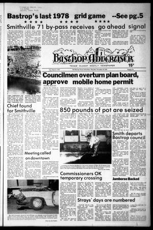 Primary view of object titled 'Bastrop Advertiser (Bastrop, Tex.), Vol. [125], No. 75, Ed. 1 Thursday, November 16, 1978'.