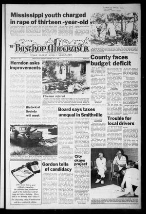 Primary view of object titled 'Bastrop Advertiser (Bastrop, Tex.), Vol. [125], No. 39, Ed. 1 Thursday, July 13, 1978'.