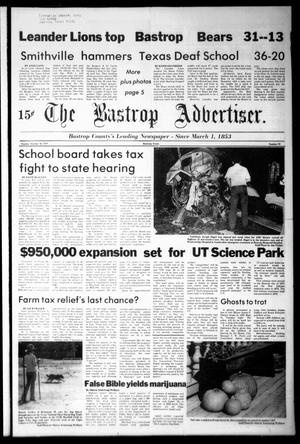 Primary view of object titled 'The Bastrop Advertiser (Bastrop, Tex.), Vol. [125], No. 70, Ed. 1 Monday, October 30, 1978'.