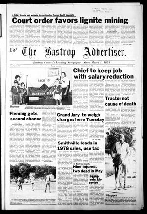 Primary view of object titled 'The Bastrop Advertiser (Bastrop, Tex.), Vol. [125], No. 32, Ed. 1 Monday, June 19, 1978'.