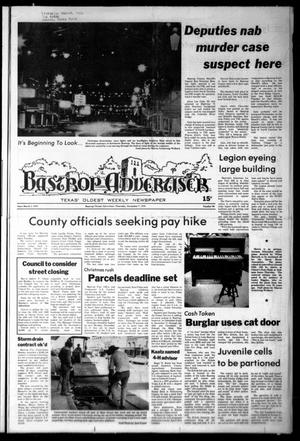 Primary view of object titled 'Bastrop Advertiser (Bastrop, Tex.), Vol. [125], No. 80, Ed. 1 Thursday, December 7, 1978'.