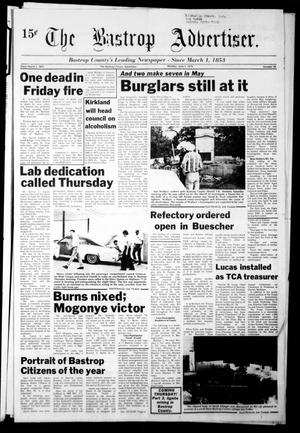 Primary view of object titled 'The Bastrop Advertiser (Bastrop, Tex.), Vol. [125], No. 28, Ed. 1 Monday, June 5, 1978'.