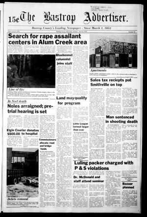Primary view of object titled 'The Bastrop Advertiser (Bastrop, Tex.), Vol. [125], No. 16, Ed. 1 Monday, April 24, 1978'.