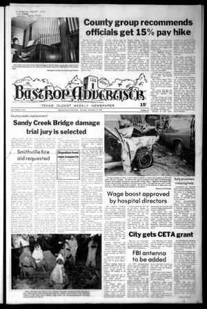 Primary view of object titled 'Bastrop Advertiser (Bastrop, Tex.), Vol. [125], No. 84, Ed. 1 Thursday, December 21, 1978'.