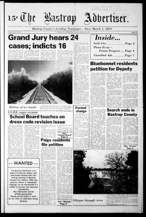Primary view of object titled 'The Bastrop Advertiser (Bastrop, Tex.), Vol. [124], No. 65, Ed. 1 Monday, January 16, 1978'.