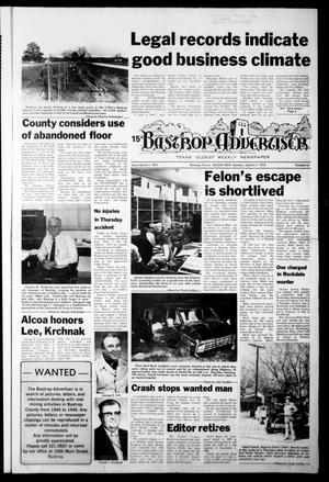 Primary view of object titled 'Bastrop Advertiser (Bastrop, Tex.), Vol. [124], No. 63, Ed. 1 Monday, January 9, 1978'.