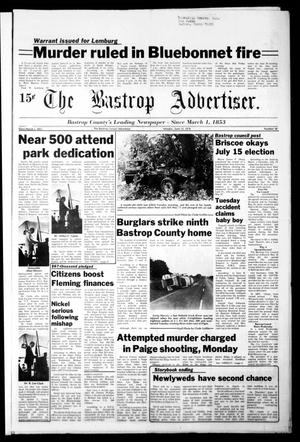 Primary view of object titled 'The Bastrop Advertiser (Bastrop, Tex.), Vol. [125], No. 30, Ed. 1 Monday, June 12, 1978'.