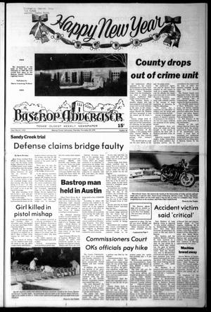Primary view of object titled 'Bastrop Advertiser (Bastrop, Tex.), Vol. [125], No. 86, Ed. 1 Thursday, December 28, 1978'.