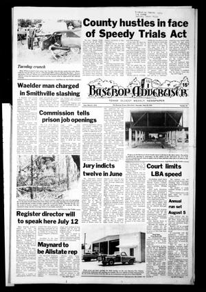 Primary view of object titled 'Bastrop Advertiser (Bastrop, Tex.), Vol. [125], No. 35, Ed. 1 Thursday, June 29, 1978'.