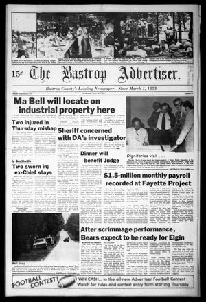 Primary view of object titled 'The Bastrop Advertiser (Bastrop, Tex.), Vol. [125], No. 54, Ed. 1 Monday, September 4, 1978'.