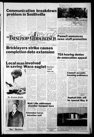 Primary view of object titled 'Bastrop Advertiser (Bastrop, Tex.), Vol. [125], No. 15, Ed. 1 Thursday, April 20, 1978'.