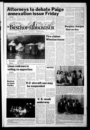 Primary view of object titled 'Bastrop Advertiser (Bastrop, Tex.), Vol. [124], No. 72, Ed. 1 Thursday, February 9, 1978'.