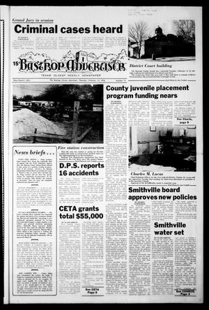 Primary view of object titled 'Bastrop Advertiser (Bastrop, Tex.), Vol. [124], No. 76, Ed. 1 Thursday, February 23, 1978'.