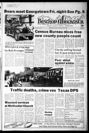 Primary view of object titled 'Bastrop Advertiser (Bastrop, Tex.), Vol. [125], No. 63, Ed. 1 Thursday, October 5, 1978'.