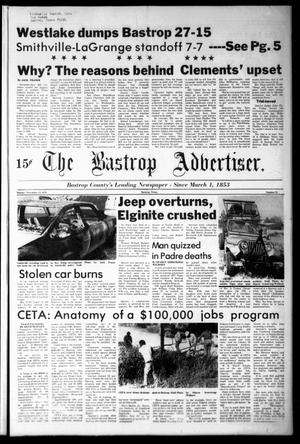 Primary view of object titled 'The Bastrop Advertiser (Bastrop, Tex.), Vol. [125], No. 74, Ed. 1 Monday, November 13, 1978'.