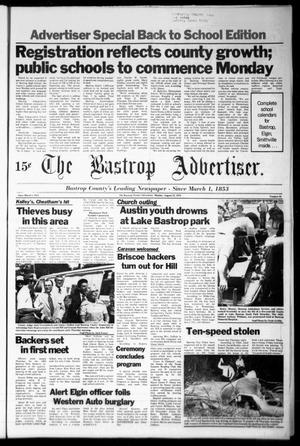 Primary view of object titled 'The Bastrop Advertiser (Bastrop, Tex.), Vol. [125], No. 50, Ed. 1 Monday, August 21, 1978'.