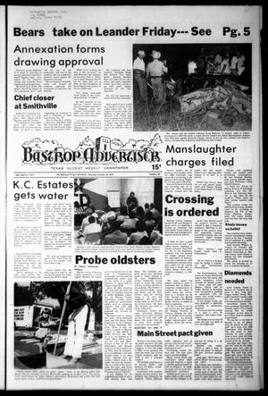 Primary view of object titled 'Bastrop Advertiser (Bastrop, Tex.), Vol. [125], No. 69, Ed. 1 Thursday, October 26, 1978'.
