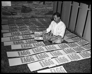 Primary view of object titled 'Bob Fagg campaign photos'.
