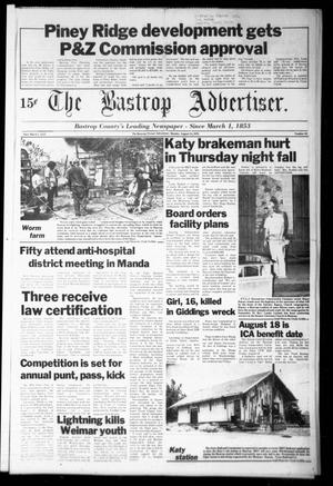 Primary view of object titled 'The Bastrop Advertiser (Bastrop, Tex.), Vol. [125], No. 48, Ed. 1 Monday, August 14, 1978'.