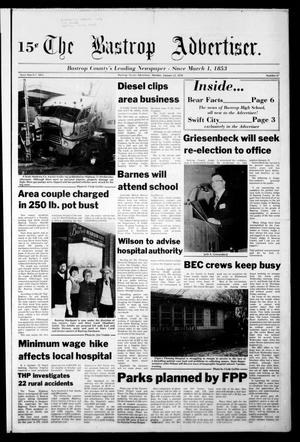Primary view of object titled 'The Bastrop Advertiser (Bastrop, Tex.), Vol. [124], No. 67, Ed. 1 Monday, January 23, 1978'.